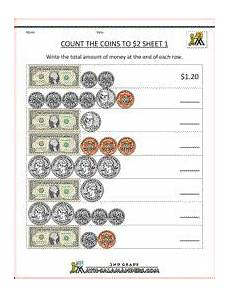 counting money worksheets grade 3 2520 2nd grade money worksheets up to 2 money math worksheets money math money worksheets