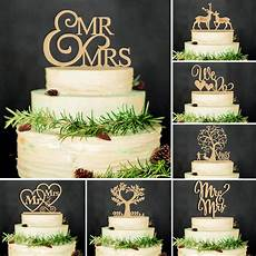 romantic wooden mr mrs cake topper wedding party