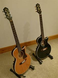 matching pair of guild s4 ce songbird electro acoustic guitars thin one one