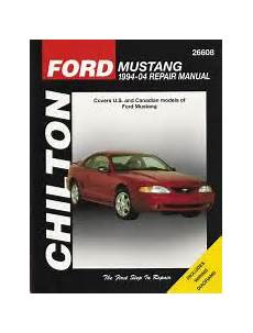 car repair manuals online free 2004 ford mustang spare parts catalogs 1994 2004 ford mustang chilton s total car care manual