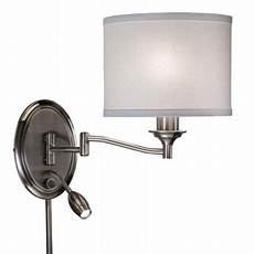 transitional 2 light pewter swing arm up plug in wall l walmart com