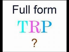 full form of trp youtube