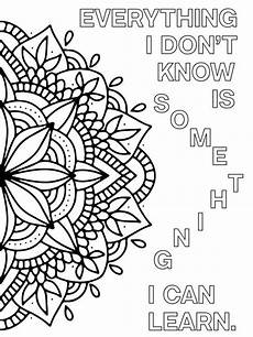 mandala coloring pages with quotes 17979 growth mindset coloring pages printable mandala positive mindset quotes to color with