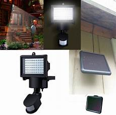 super bright 60 led outdoor solar power light with pir