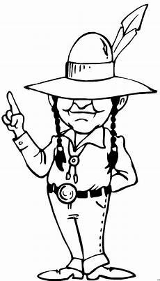 gratis malvorlagen indianer indianer mit feder am hut ausmalbild malvorlage comics