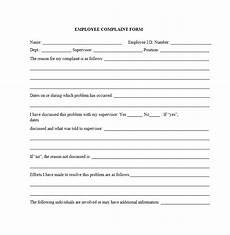 49 employee complaint form letter templates template archive