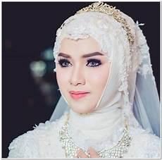 12 Foto Contoh Model Kerudung Pengantin Muslim Modern Terbaru