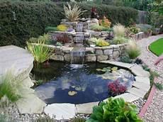 Steingarten Mit Teich - wasserfall im garten selber bauen 99 ideen wie sie die