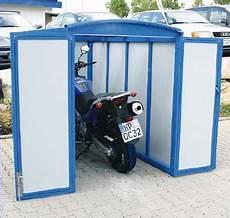 Motorradgarage Auf Mietparkplatz Aufstellen Motorrad