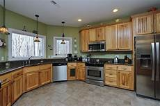 hickory kitchen cabinets with black appliances wow blog