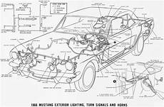 1966 mustang flasher diagram wiring schematic s 66 mustang fog lights emergency sound deadener