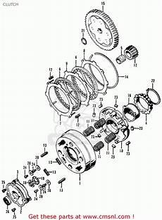 honda ct 70 k3 clutch assembly diagram honda ct70 trail 70 k0 1969 usa clutch buy clutch spares