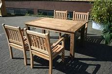 Gartenmöbel Set Holz - gartenm 246 bel set aus massivem holz tisch stuhl bank aus