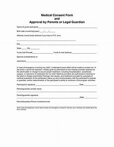 medical consent form in word and pdf formats