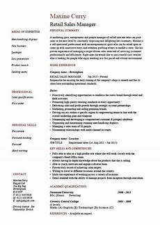 retail sales manager resume exle description