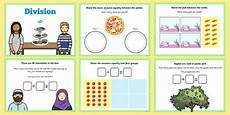 maths ks1 introducing division activity smartboard