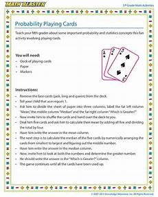 probability worksheets cards 5723 probability cards 5th grade probability activity for children grade 6 math