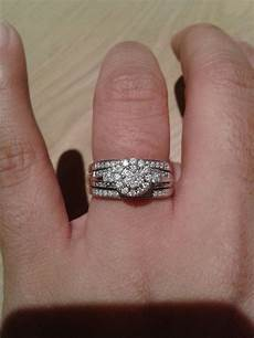 spinoff post pics of your two rings together wedding ring engagement ring page 2