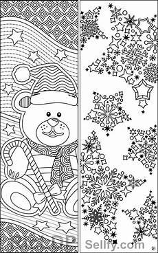 malvorlage lesezeichen weihnachten malbild