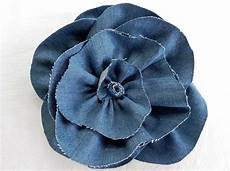 fiori in tessuto tutorial diy denim fabric flowers inspired style miss