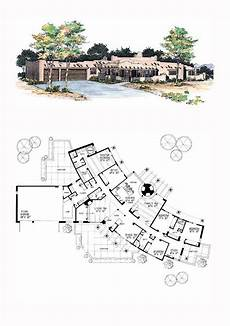 southwest house plans with courtyard southwest style house plan 99272 with 4 bed 4 bath 3