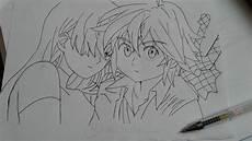Sketsa Gambar Anime Dengan Pensil Gambar Anime Keren