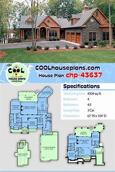 craftsman house plans with basement house plan chp 43637 craftsman house plans dream house