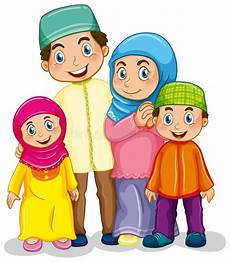 Muslim Family Stock Vector Image 51959654