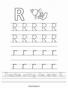 pre k letter r worksheets 24414 practice writing the letter r worksheet twisty noodle
