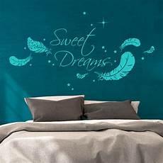wandtattoo sweet dreams wandtattoo sweet dreams mit federn und sternen m1759 wandtattoos elfent 252 r tassen