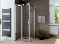 duschkabine glas ebenerdig dusche eckeinstieg schiebet 252 r 80 x 80 cm 220 cm hoch 2 teilig
