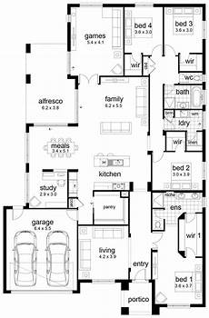 4 bedroomed house plans floor plan friday 4 bedroom family home