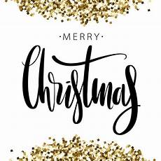 merry christmas words background with golden glitter premium vector