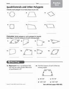 quadrilaterals and other polygons practice worksheet for