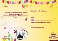 kindergeburtstag einladungen bowling kostenlos zum