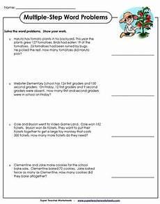 3rd grade math worksheet multiplication and division word problems step word problem worksheets 3rd grade