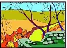 Malvorlagen Landschaften Gratis Landschaft Herbst Ausmalbild Malvorlage Landschaften