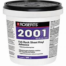 2001 1 qt felt back sheet vinyl glue adhesive