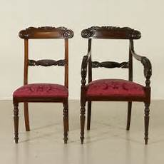 mobili sedie poltrona e quattro sedie mobili in stile bottega