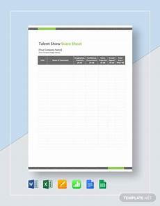 free 9 sle talent show score sheet templates in pdf ms word pages