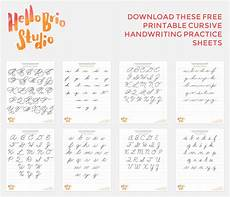 handwriting practice worksheets free printable 21674 discover your lettering style with cursive hello brio studio