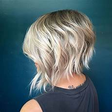 textured bob with a shadowed root short hair styles short shag hairstyles short shag haircuts