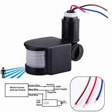 motion detector wiring led 220v infrared pir motion sensor detector wall light auto switch 180 176 12m ebay