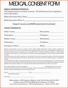 30 medical consent form template free in 2020 consent forms consent letter parental consent