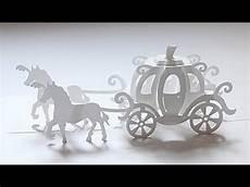 pop up cinderella carriage card template 180 deg cinderella carriage pop up card