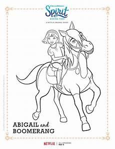 spirit free abigail and boomerang printable free