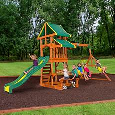 playground swing sets backyard discovery tucson wooden swing set and sandbox
