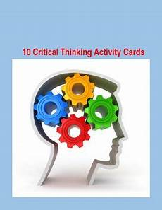 activity worksheets 20294 10 critical thinking task cards with student and record sheets this or that questions