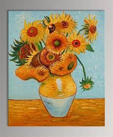i fiori di gogh quadro vaso con girasoli di gogh falso d autore