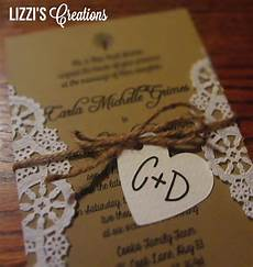country wedding invitations lizzi s creations project wedding invitations and programs